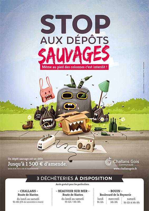 Stop dépôts sauvages !