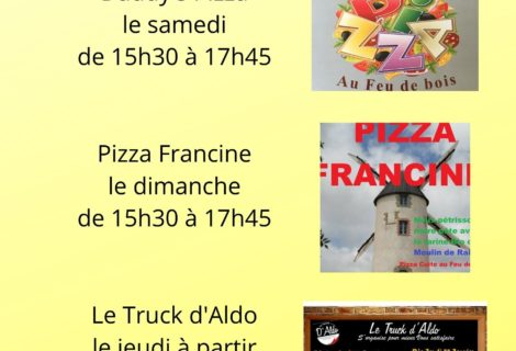PIZZAS A EMPORTER & FOOD TRUCK